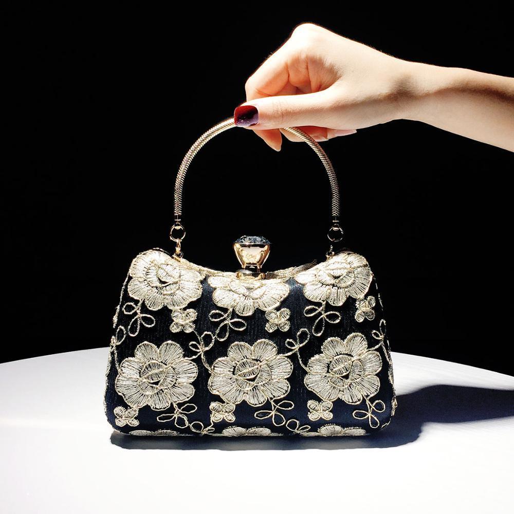 Borse borsa a mano da donna borsa da sera femminile nuovo piccolo 2019 cheongsam in stile retrò cinese