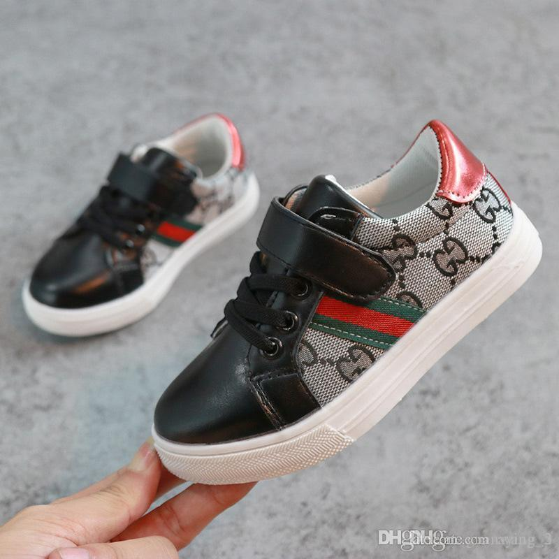 2019 Fashion baby boy air super running shoes kids children designer sneakers casual sneakers green sneakers black white ERU size 21-35