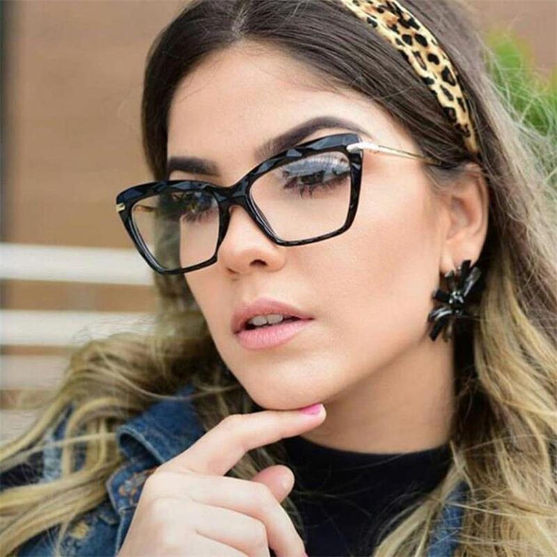 أزياء ريترو عين القط المرأة النظارات الإطار النظارات البصرية وصفة طبية للرجال نظارات إطارات Oculos دي Feminino