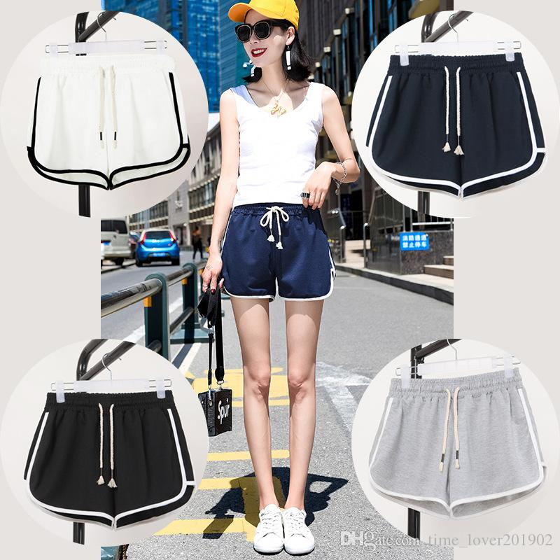 b2bb83ca6c0 2019 Hot pants Fat mm Cintura alta Pantalones de pijama Mujeres Run  Pantalones cortos deportivos ...