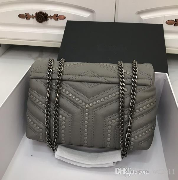 Подлинная мода женщины стеганые цепные сумки с высокой сумкой плечо кошелька икры кожа качества тотальные лоскутные сумки горячая сцепление сумочка XXOWQ