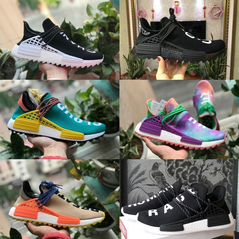 Alta qualità 2019 Nuovo Pharrell Williams NMD delle donne degli uomini correnti di sport Scarpe Nero Bianco Primeknit PK Runner XR1 R1 R2 casuale corsa scarpe da tennis