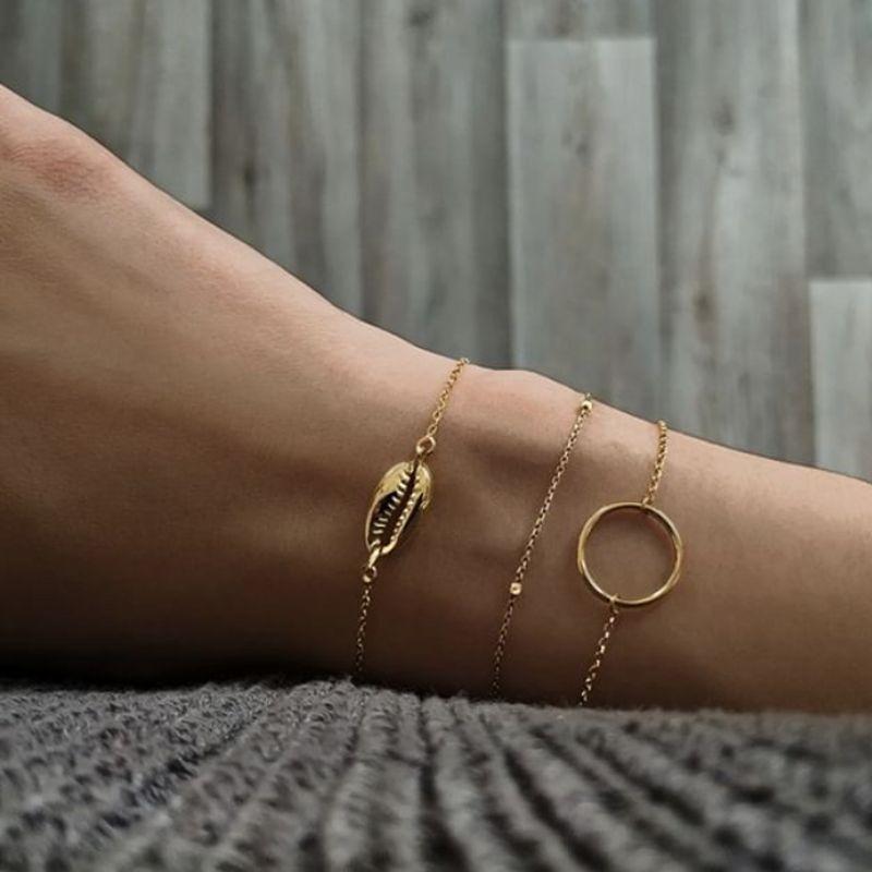 Charms LISMLISM Bracelets ronds de femmes Tassel Bracelet Shell Girl Fashion couleur or rose bijoux Bohème en alliage de zinc Armband