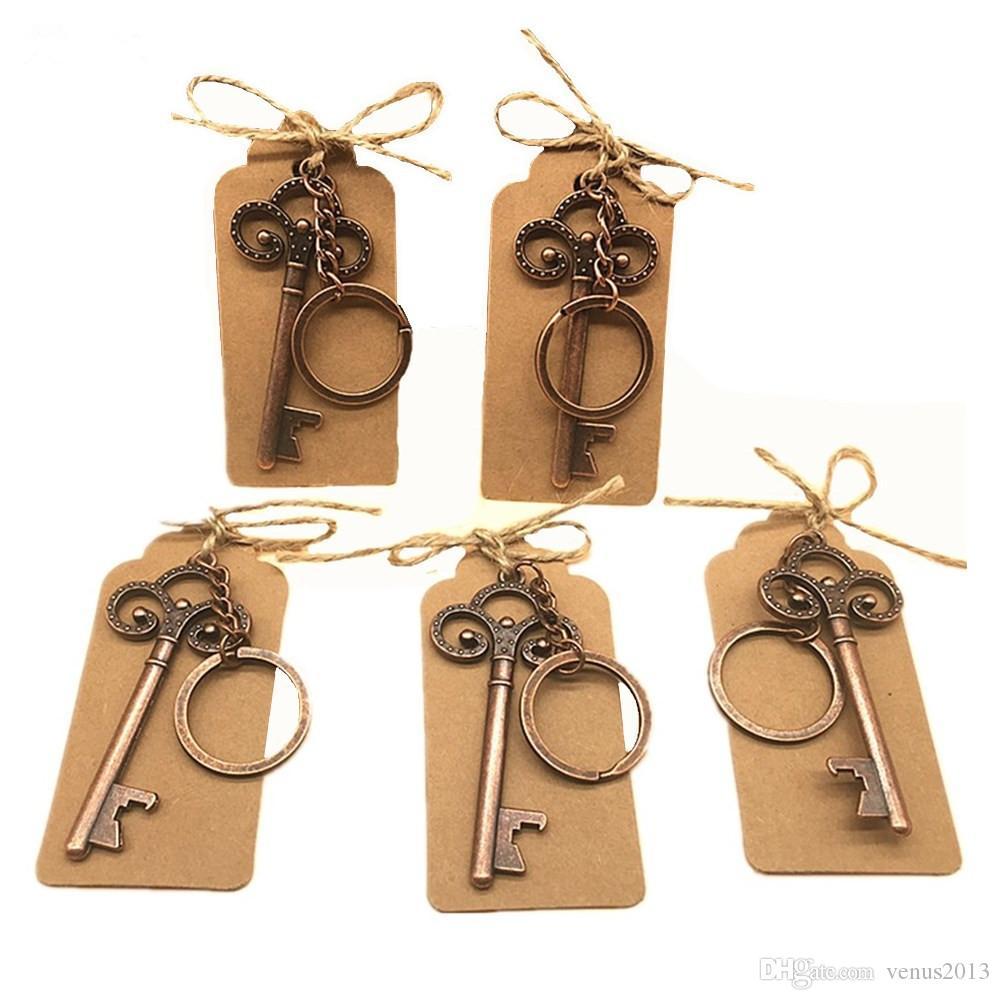 هدايا الزفاف خمر هيكل عظمي فتاحة زجاجات العلامات تفضل الطرف الفتاحات زجاجة المفاتيح عرس الحسنات هدايا للضيف
