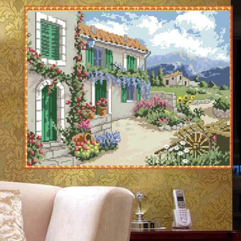 Full Drill House DIY 5D Diamond Painting Building Cross Stitch Kits Home Decor
