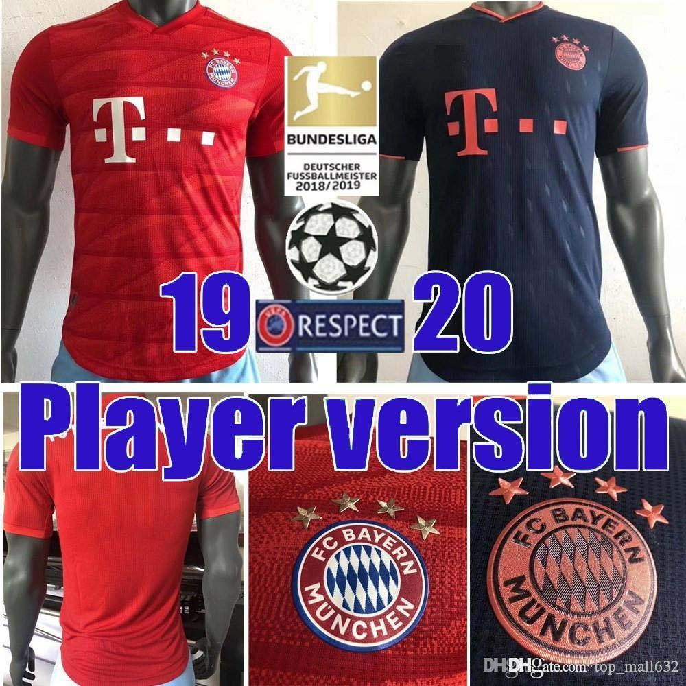 2020 2019 2020 Fc Bayern Munich Player Version Muller Home Soccer Jersey 19 20 3rd 11 James Soccer Shirt Lewandowski Football Uniform From Top Mall632 71 65 Dhgate Com