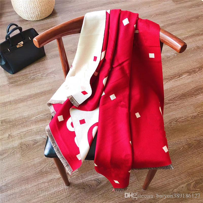 Newest Fashion women Scarve mixed color luxury women Shawls printed font Cashmere blend scarf free shipping
