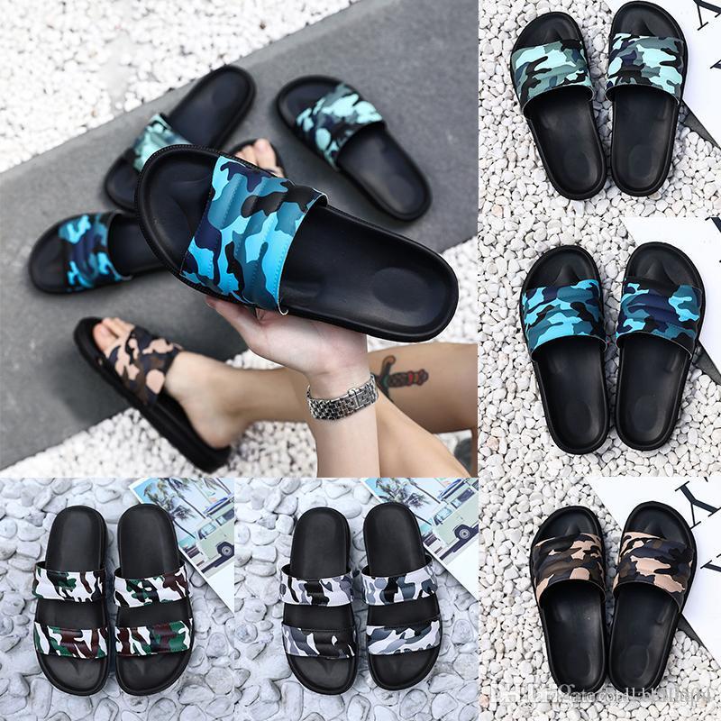 neueste Luxus-Designer-Schuhe Slides Sommer-Strand-Innen Wohnung G Pantoffel Haus Flip Flops mit Spike Sandalen Tarnung Flip-Flops