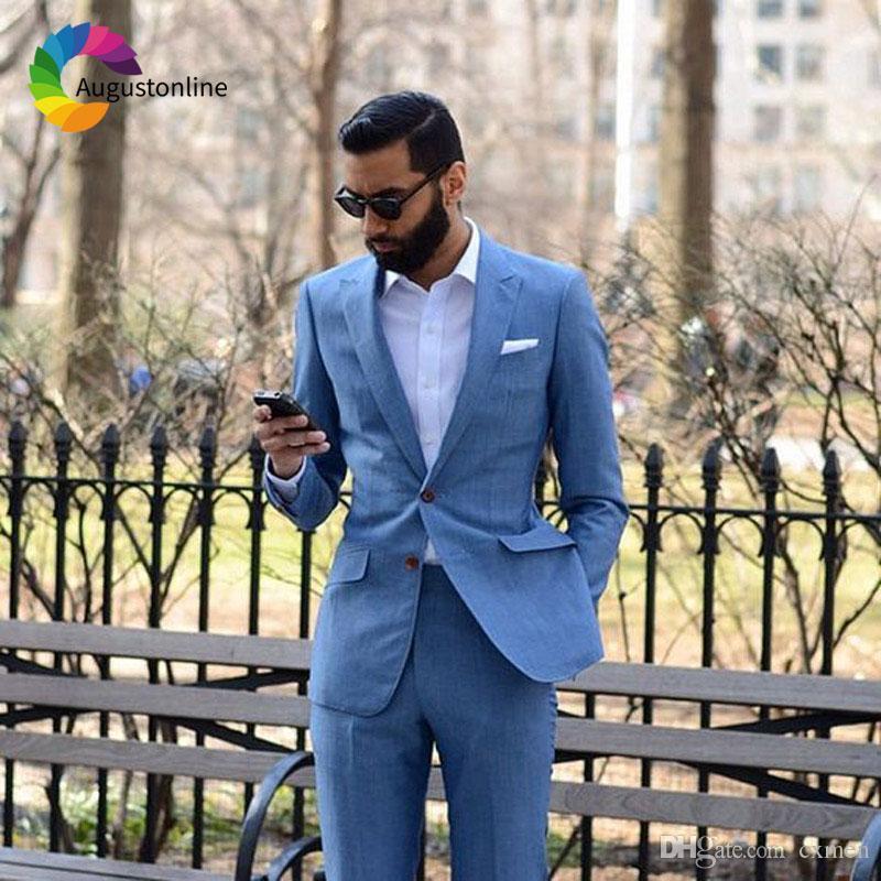 Latest Coat Pant Designs Tailored Made Navy Blue Men Suit Wedding Formal Groom Blazer Groomsmen Tuxedo Mens Blazer Party 2 Piece