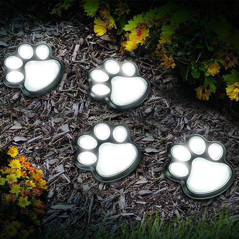태양 방수 발 빛 애완 동물 트레일 라이트 야외 잔디 빛 풍경 램프 화이트 / 화이트 / 멀티를 따뜻하게 인쇄