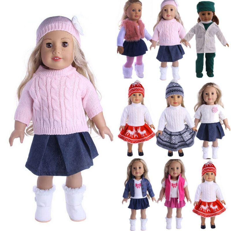 Muñeca ropa de vestir traje de ropa fijado para el 18 '' muñeca American Girl Nuestra Generación