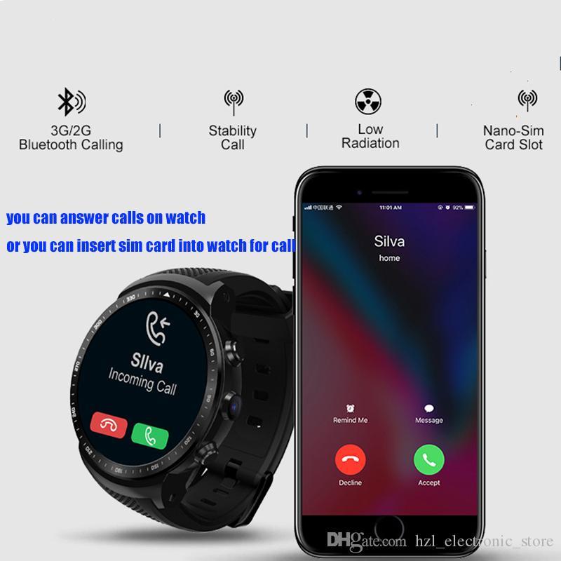 أحدث 3G GPS واي فاي بلوتوث دعوة سيم بطاقة الذكية ووتش الروبوت رباعية النواة 16GB BT الرياضة ساعة ذكية HD كاميرا رصد معدل ضربات القلب