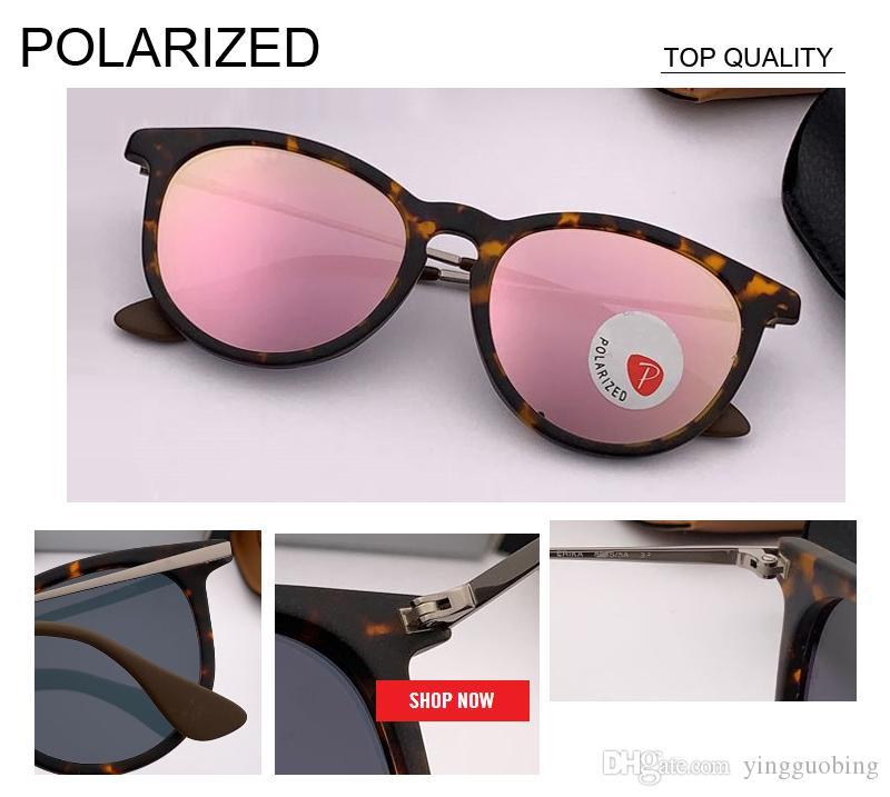 2019 الجملة أعلى جودة العلامة التجارية مصمم النساء الرجل النظارات المستقطبة rd4171 نظارات الشمس عاكس الرجعية فلاش لوح إطار بارد gafas