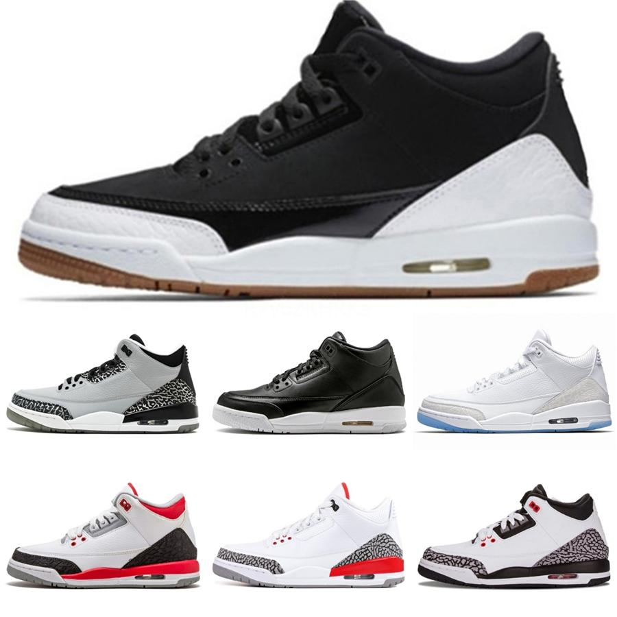 Los zapatos más nuevos 3 3S Eminem baloncesto para los hombres Negro Denim invicto Encore azul verde verde oliva para hombre al por mayor de la Versión Tamaño 41-47 nosotros 8-13 # 513