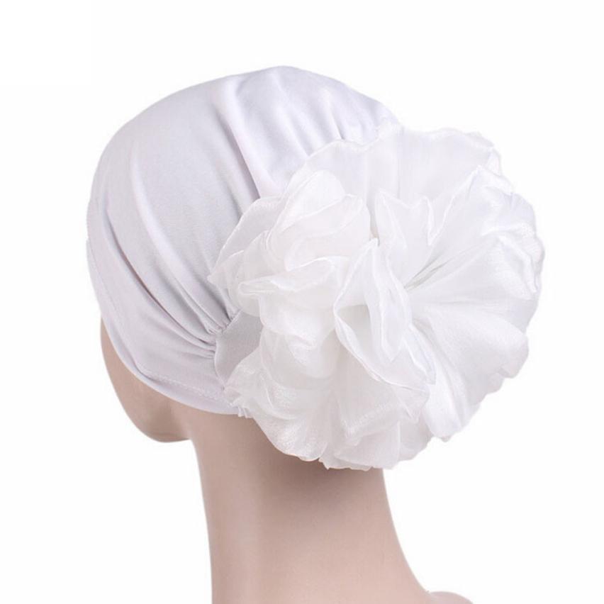 Womens Hat Solid Cancer Chemo Hair Wrap Hats Beanie Turban Head Wrap Caps For Ladies Female
