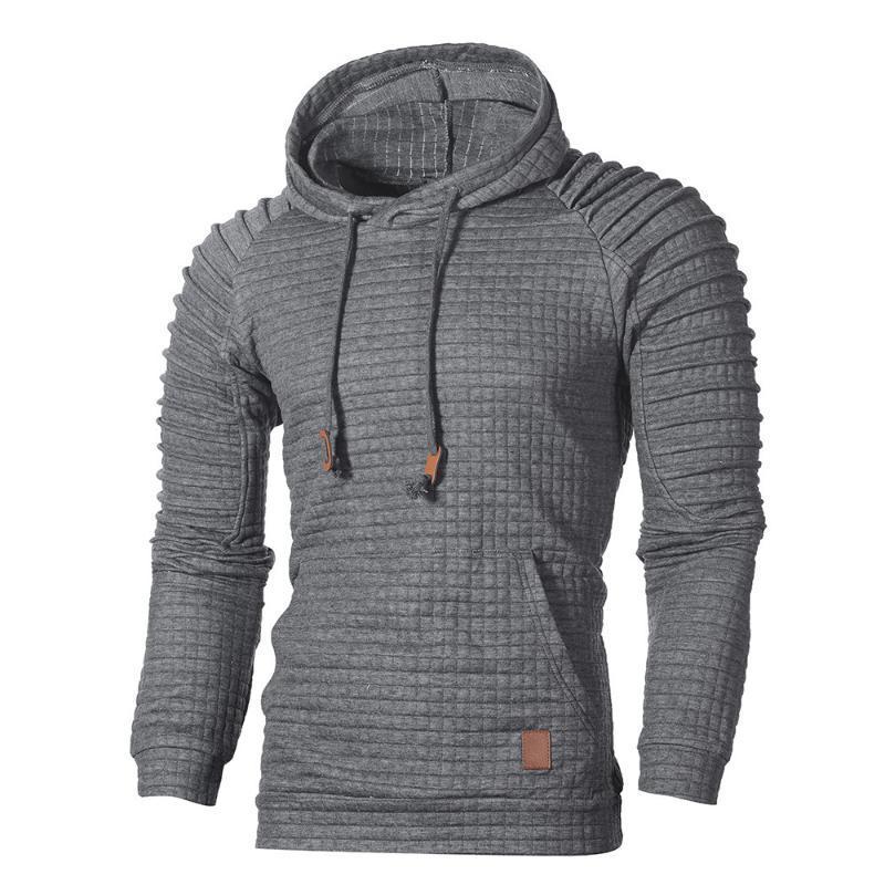 Vetement Homme 2019 Marca de manga larga de color sólido con capucha suéter de los hombres chándal Jerseys Ropa de deporte sudaderas punto de los hombres