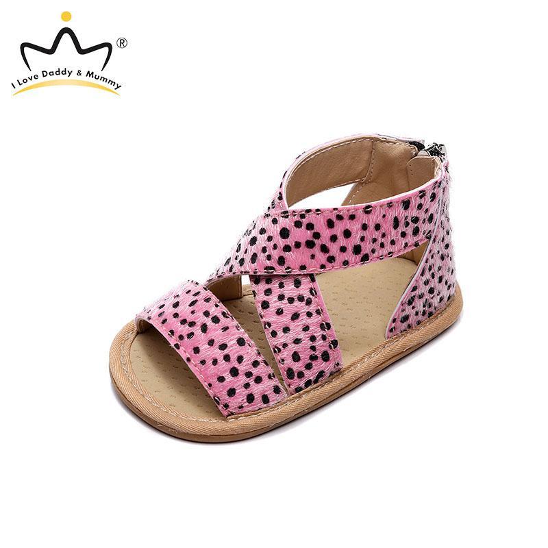 Nuova stampa del leopardo Scarpe estate della ragazza del neonato sandali antisdrucciolevoli bambino sandali Chaussure fille