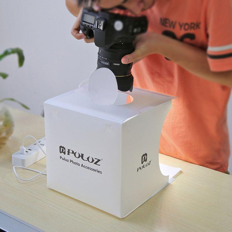 Mini Photo Studio Box LED Light Room Photography Backdrop Lighting Shooting Tent Backdrop Cube Box Photo Studio FREE DHL UPS