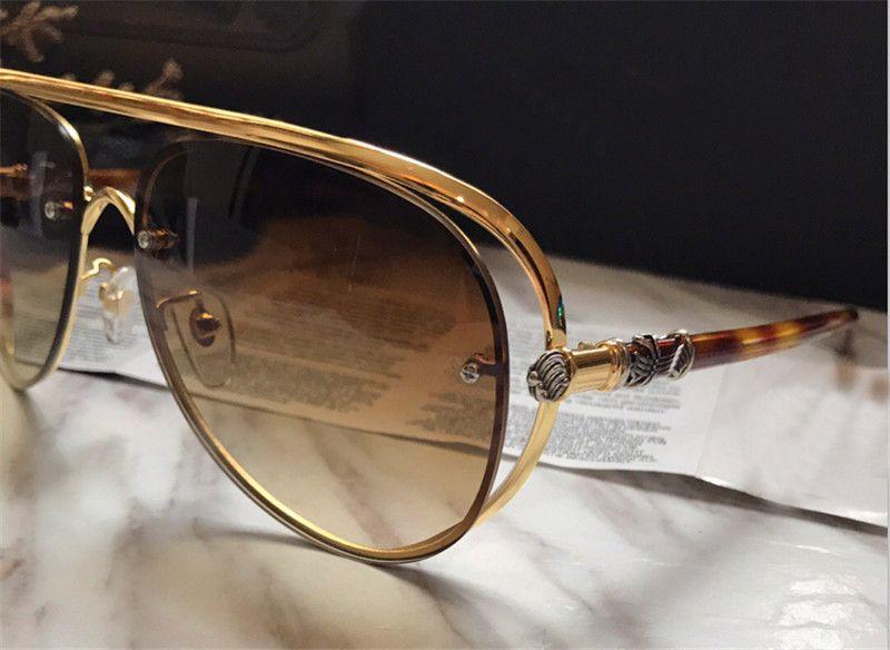 Luxo-Venda de novo designer de moda óculos de sol MS-TERAKER piloto oco quadro clássico simples óculos de sol Chrome qualidade superior uv400 lente