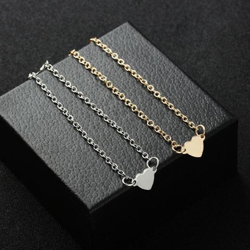 NS1 Vente Chaude Charme Coeur BraceletsBracles Pour Femmes Filles Or Argent Couleur En Métal Bracelets Déclaration Bijoux En Gros