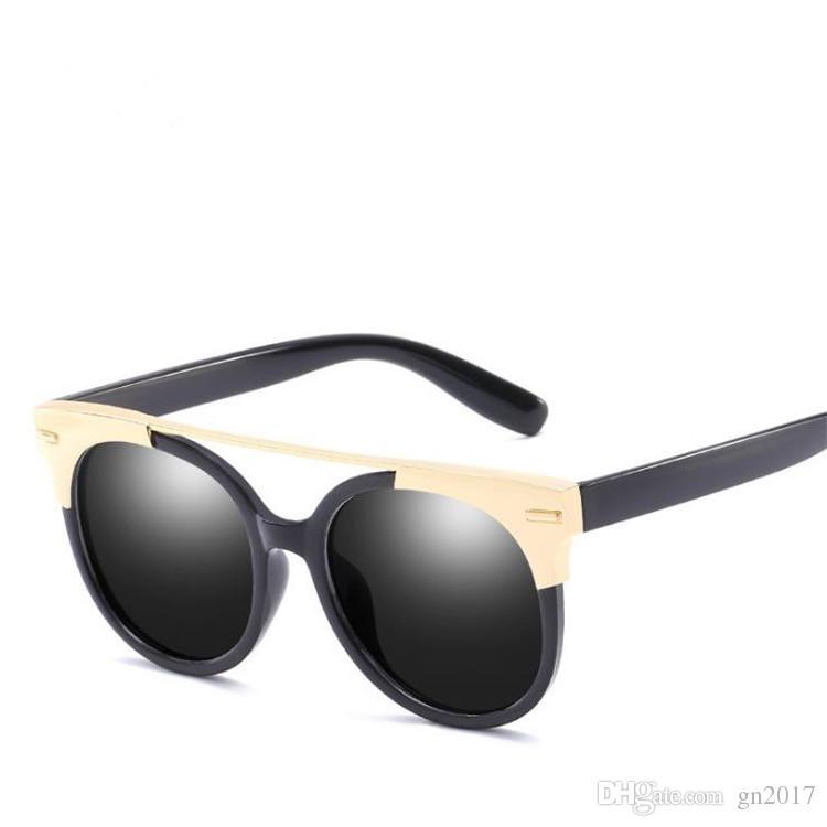 Legierung Retro Frauen Sonnenbrille Brillen Farbe Gläser Anti-UV-Film Mode Brille Brille Rahmen Männer Sun Sun A +++ CPSRQ