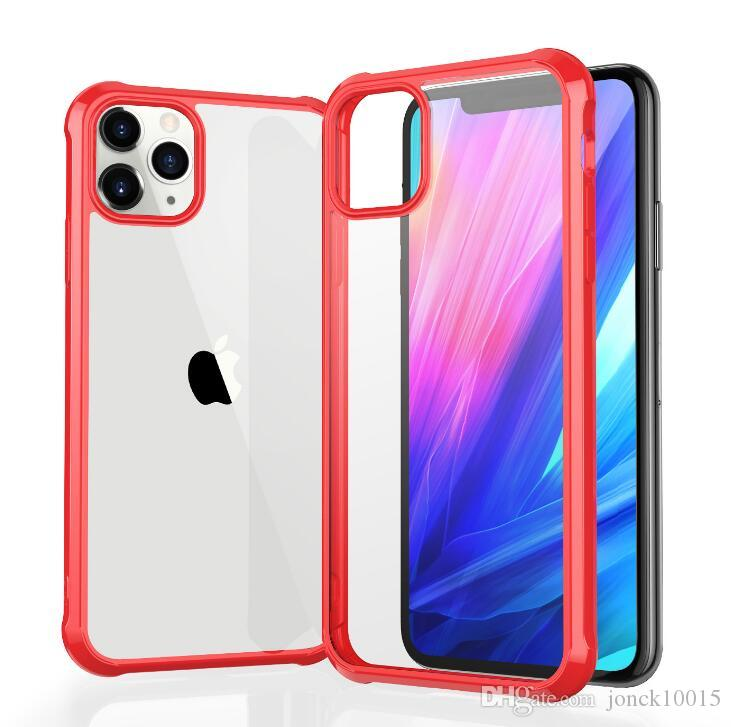 Applicable iPhone11 mobile phone case Apple 11 pro max protective cover four corner anti-drop cover acrylic hard shell smart watch
