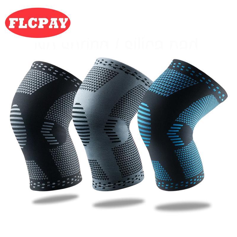 1 paire New Nylon tissage élastique sport genou Pads Respirant Genouillère Brace Courir Fitness Randonnée à vélo genou Protector