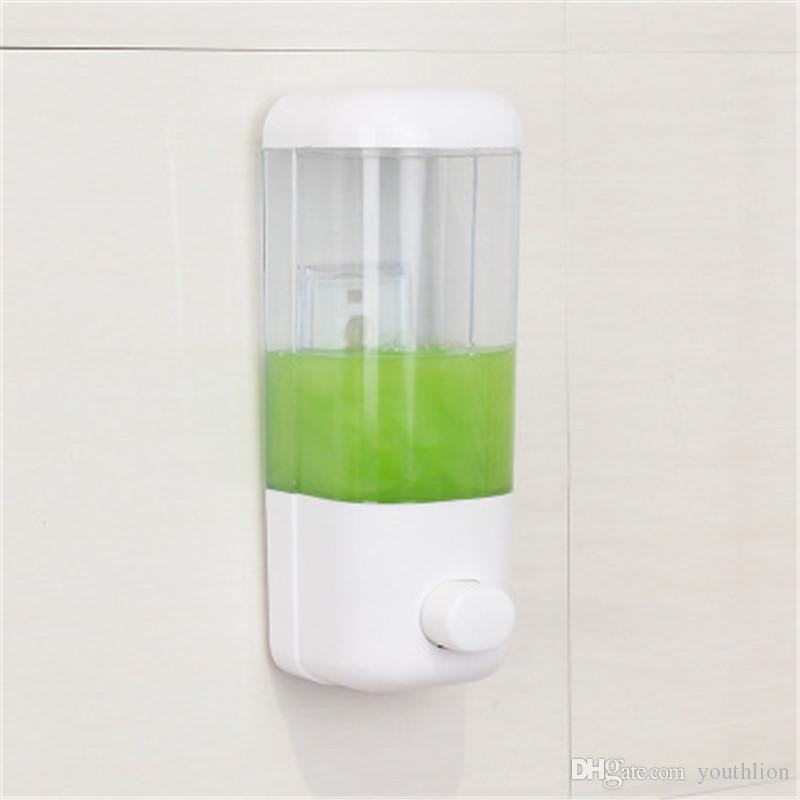 Dispensador de jabón Baño Desinfectante Champú Gel de ducha Envase Botella 500 ML Montado en la pared Artículos para el hogar Simplicidad Plásticos