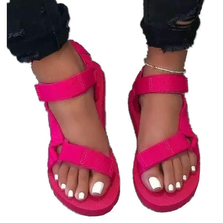 2020 Chaussures Femmes Leopard cheville Bracelet Sandales Respirant été Talons Chaussures Femmes à bout ouvert sandales de plage Femme Taille plus