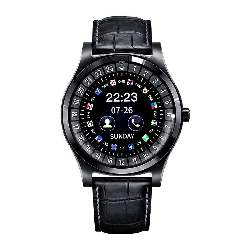 50pcs R68 Bluetooth Smart Watch Phone 1.22 inch IPS Circular Touch Screen Leather Strap Luxury Bluetooth Smartwatch with Camera