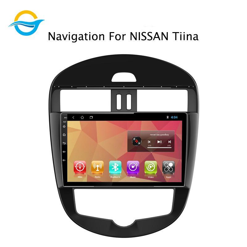 자동차 라디오 멀티미디어 비디오 플레이어 네비게이션 GPS 안드로이드 8.1 9 인치 지원 미러 링크 ForNissanTiina 2016 자동차 DVD