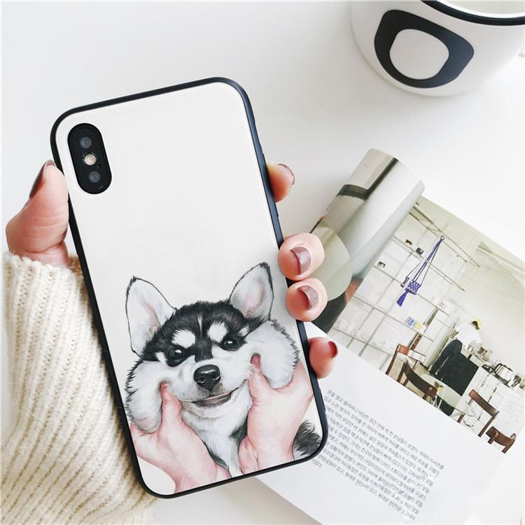 Coque de lujo precioso Husky siberiano para el iPhone 11 Pro X Max Xr caso para el iPhone 8 7 6s Plus cubierta de silicona 5S SE estuche blando.