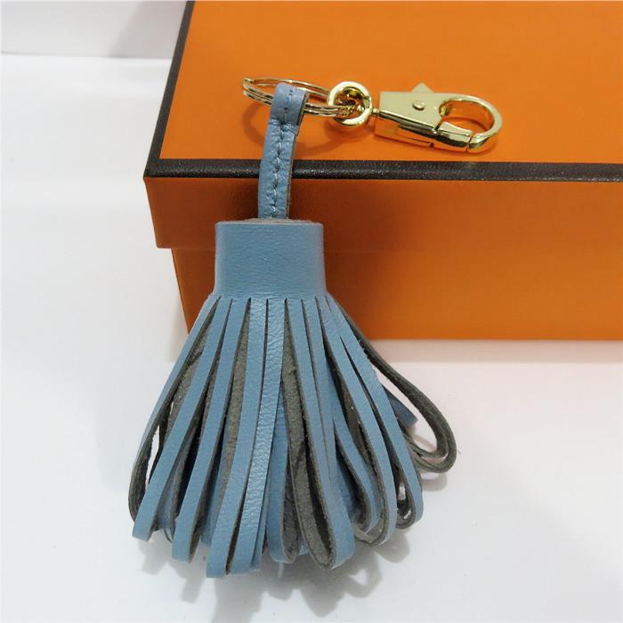 Echtes Leder-Schaffell-Süßigkeit-Farben-Troddel-Beutel-Zusätze arbeiten Beutel-Anhänger-Verzierung Teile Fringe Keychain