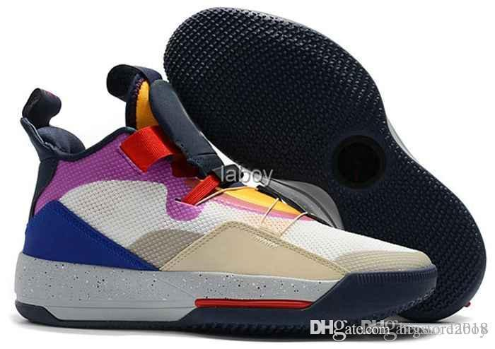 Compre Nike Air Jordan Retro 2019 Jumpman XXXIII 33 Zapatillas De  Baloncesto Para Hombre Moda 33 S Multicolores Zapatillas De Deporte Negras  Negras ...