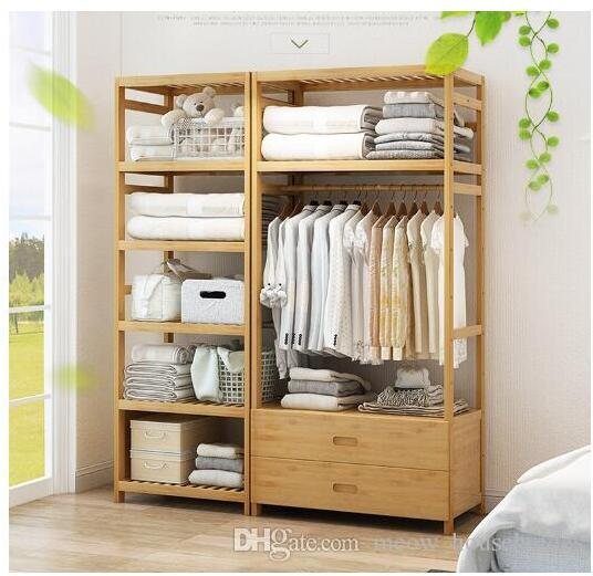 2019 Bedroom Clothes Rack Economical Wardrobe With Large Space Bedroom  Simple Wardrobe Economical Wardrobe Bedroom Furniture From  Meow_householdes, ...