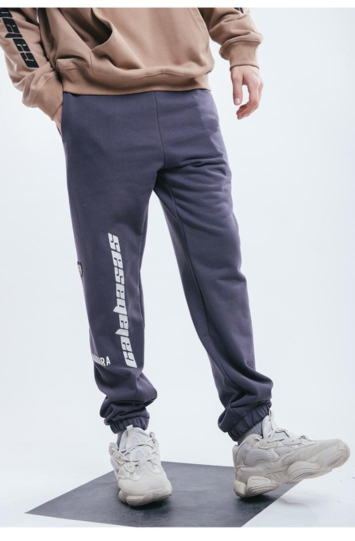 Batı Calabasas Nakış Mektupları Kadınlar Erkekler Sweatpants Koşu Pantolon Calabasas Streetwear Günlük Pantolon Pantolon