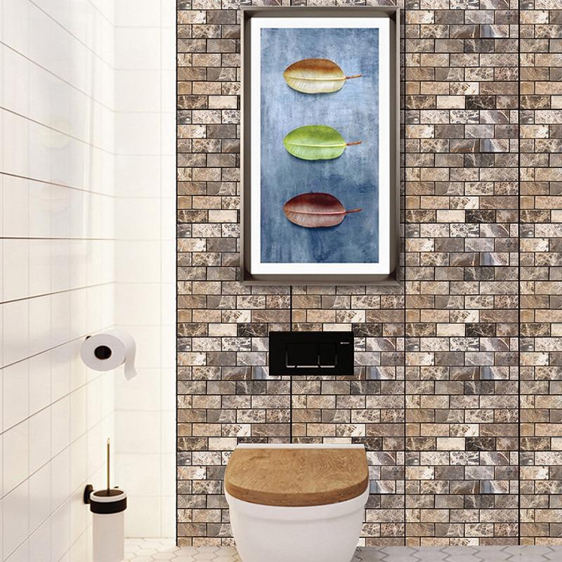 Decorativo Autoadhesivo PE Papel de Pared de Espuma 3D DIY Etiqueta de La Pared de Ladrillo Pegatinas de Pared Dormitorio Decoración Del Hogar