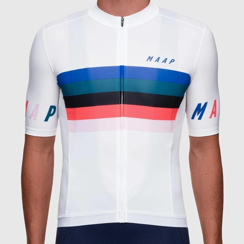 MAAP летнего мужской короткий рукав задействуя Джерси MTB команды износа нескользящого гоночного велосипеда рубашка велосипедных топы Майо SPORTWEAR