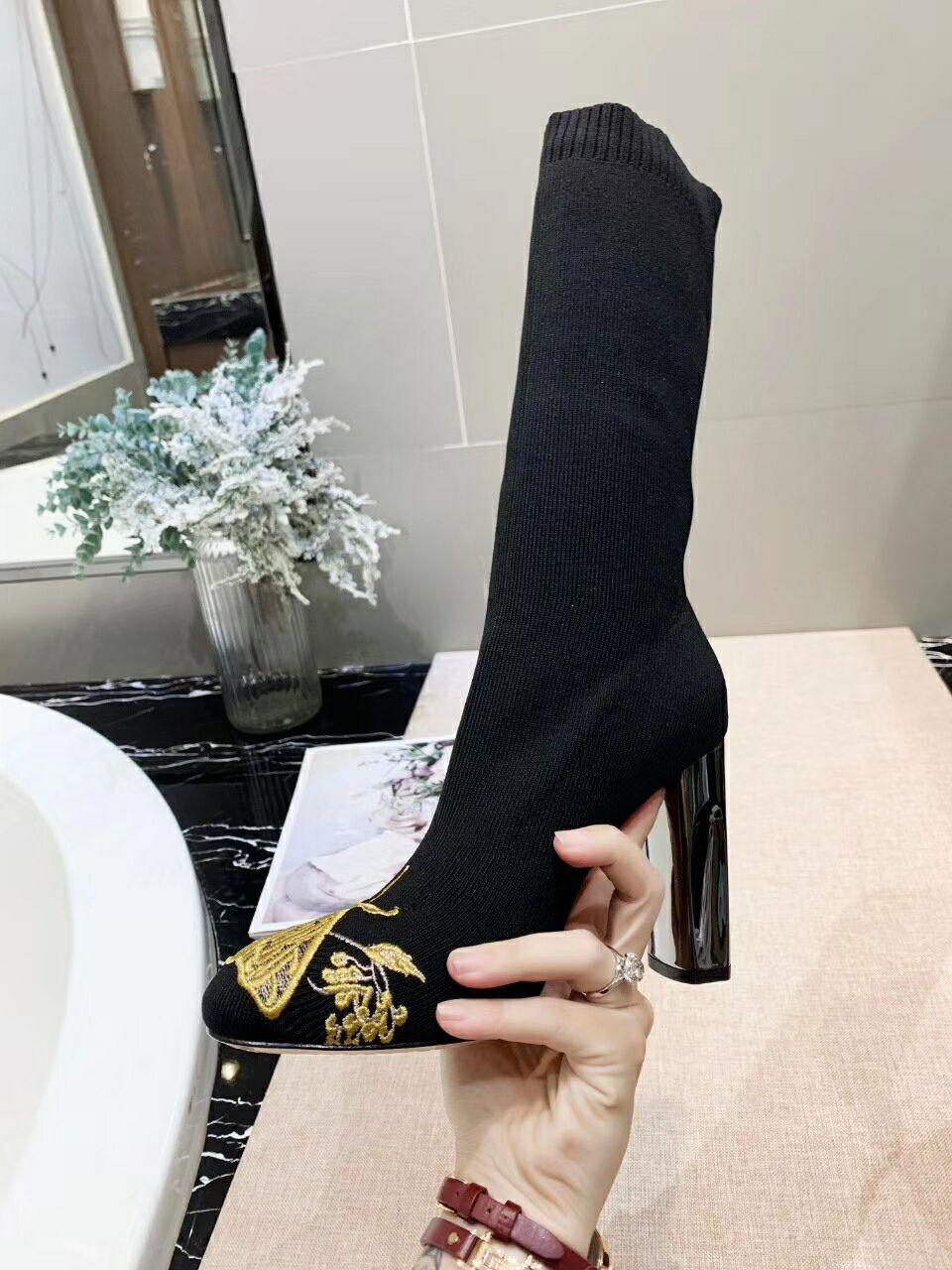 핫 Sale- 고전적인 스타일의 고급 디자이너 부츠 패션 워메의 신발 패션 신발 폐쇄 마틴 놓은 양말 부츠를 부팅