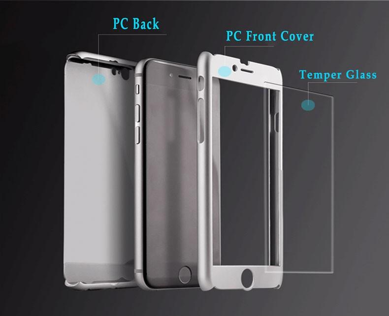 6bdec330966 Ultra Thin 360 Degree Full Cover Protective Case With Tempered Glass Screen  Protector For IPhone Xs Max Xr 8 7 6S Plus Samsung S9 7 8 Note9 Cell Phone  Case ...
