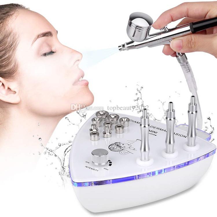 Belleza 2en1 máquina de microdermoabrasión con inyección de oxígeno pulverizador dermoabrasión diamante Peeling Machine Para Facial Limpieza Facial uso en el hogar