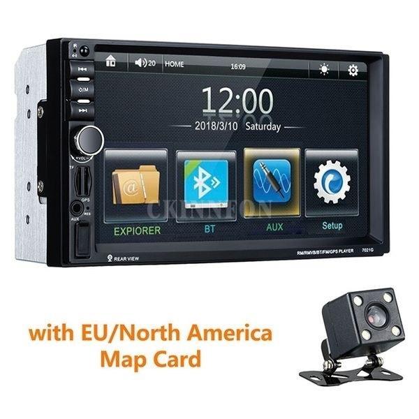 5pcs / Lot Universal 7 polegadas 2 Din MP4 / MP5 Car Radio GPS Navigation 2Din Car Audio Stereo Auto Bluetooth 1080P Rádio FM 7021G