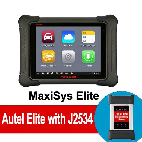 Autel MaxiSYS Elite Automotive Diagnostic Tool with J2534 ECU Coding Programming Support Wifi/Bluetooth OBD2 Diagnostic Scanner Free Update