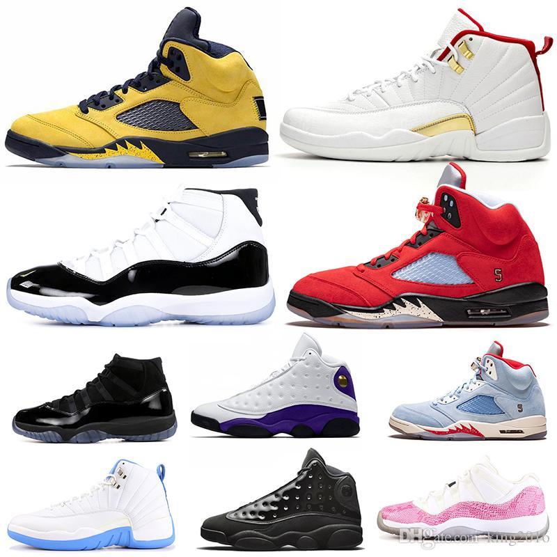 Großhandel 2019 5s FAB 5 TROPHY ROOM Herren Damen Basketball Schuhe FIBA  12s Sneakerin Concord 11s Cap Und Gown 13s Baskets Trainer Sport Sneakers  ...