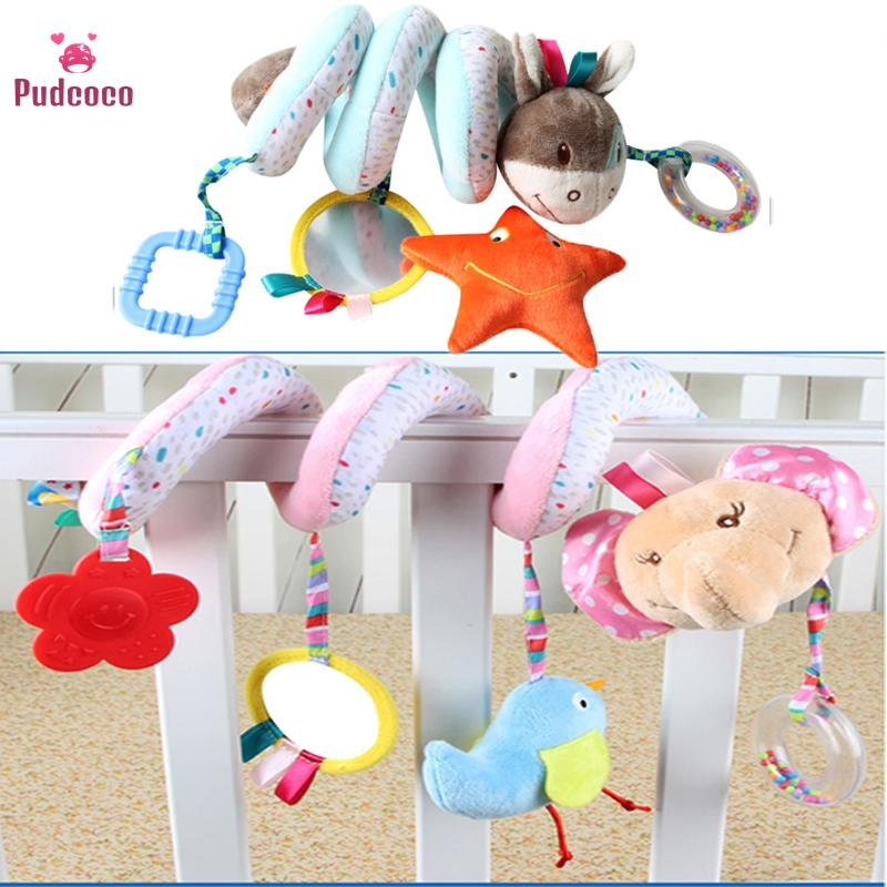iTemer Baby Pushchair Hanging Toys Rabbit Music Plush Dolls Toys Bed Car Soft Interactive Toy