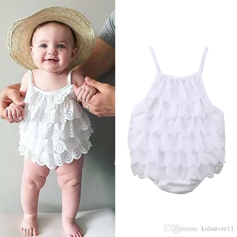 UK STOCK New Baby Girl Hollow-out Sleeveless Romper Jumpsuit Bodysuit Outfit Set