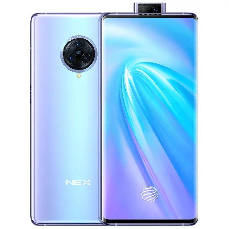 "Original Vivo Nex 3 5G Mobile Phone 8GB RAM 256GB ROM Snapdragon 855 Plus Octa Core 64.0MP AI NFC Android 6.89"" AMOLED Full Screen Fingerprint ID Face Smart Cell Phone"
