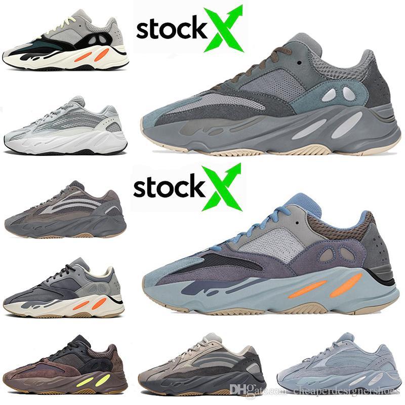 New Arrival 700 Running Shoes Homens Mulheres CARBONO Hospital Teal azuis da onda Runner 700s Tephra Inércia malva estática Vanta Trainers Sapatilhas