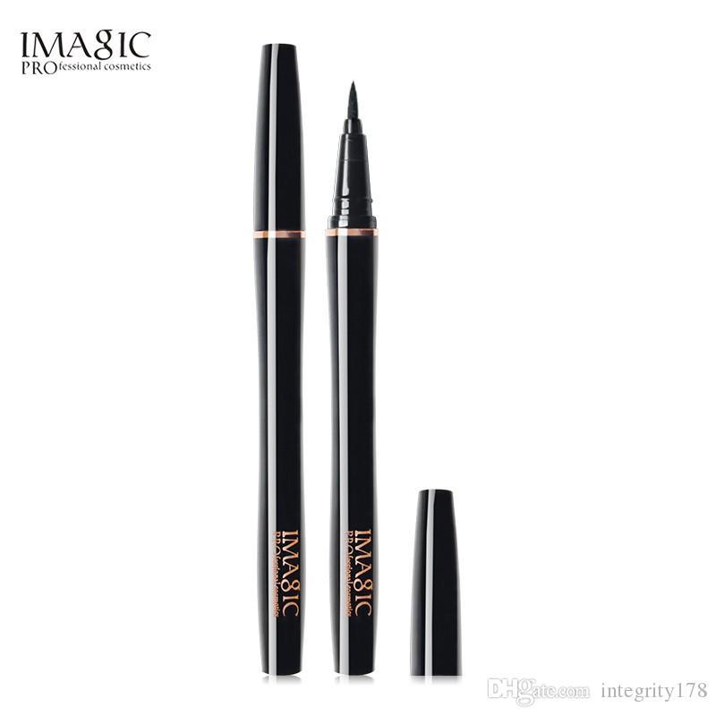 Drop ship 12pcs/lot IMAGIC Professional Black Liquid Eyeliner Bright Light Eye Liner Waterproof Long-lasting Pencil Makeup Cosmetic Tool
