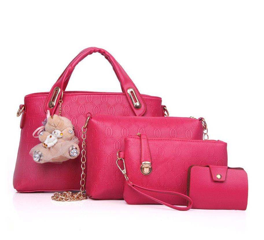 2020 New Women Handbag Bear Shoulder Cross Body Handbag Set of Four Pieces PH-CFY20062049